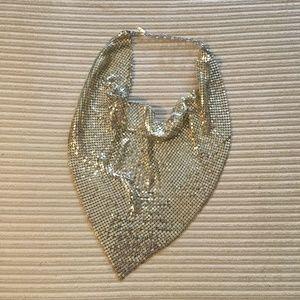 Vintage silver bib necklace